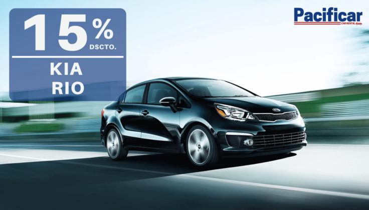 15% dscto. en Kia Rio automático - Pacificar Car Renta