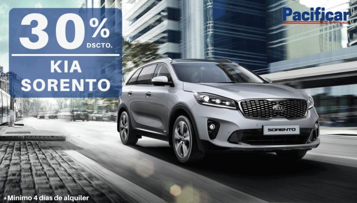 30% dscto. en Kia Sorento automático - Pacificar Car Rental