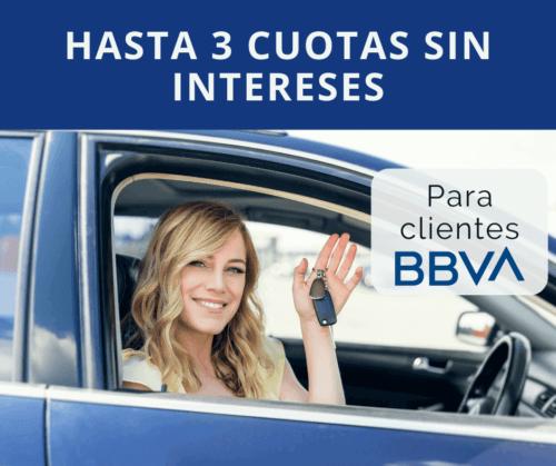 Hasta 3 cuotas sin intereses con tarjeta BBVA en Pacificar